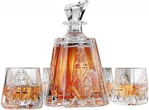 Aztec Whiskey Decanter Glass Set