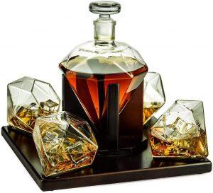 Wine Savant Diamond Whiskey Decanter